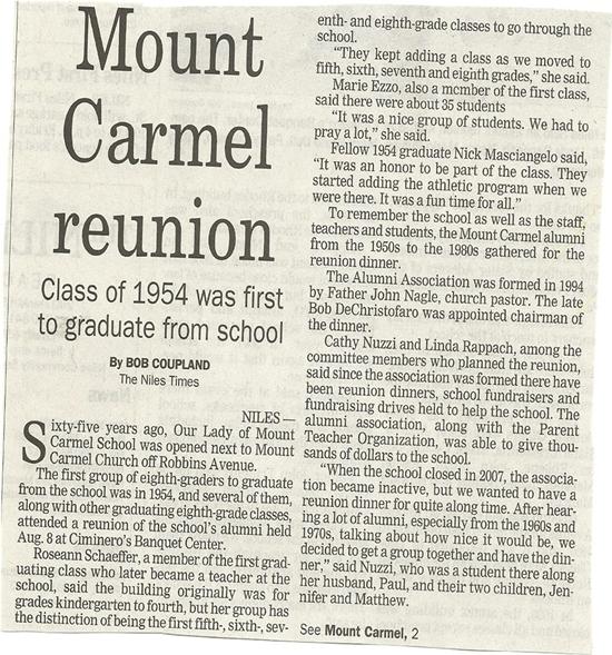 Mount Carmel School Reunion 2014